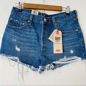 NWT Levi's 501 Mid-Rise Shorts Size 28